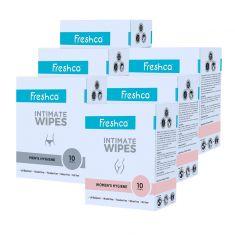 Intimate Wipes Men's Hygiene-Women's Hygiene 10 Pcs (Pack of 6)